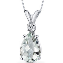 14 kt White Gold Pear Shape 1.50 ct Amethyst Pendant P8946