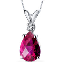 14 kt White Gold Pear Shape 2.50 ct Ruby Pendant P8952