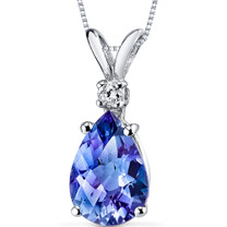 14 kt White Gold Pear Shape 2.50 ct Alexandrite Pendant P8958