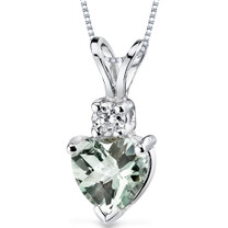 14 kt White Gold Heart Shape 0.75 ct Amethyst Pendant P8996