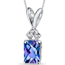 14 kt White Gold Radiant Cut 1.25 ct Alexandrite Pendant P9086