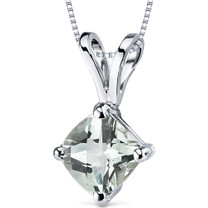 14 kt White Gold Cushion Cut 0.75 ct Amethyst Pendant P9146