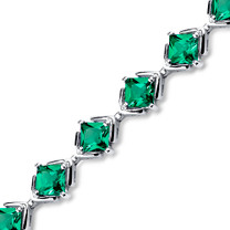 7.50 ct Princess Cut Emerald Bracelet in Sterling Silver SB4300