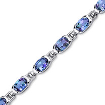 7.00 ct Oval Shape Alexandrite Bracelet in Sterling Silver SB4316