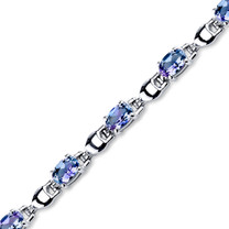 5.50 ct Oval Shape Alexandrite Bracelet in Sterling Silver SB4324
