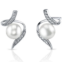 6.5mm Freshwater White Pearl Earrings in Sterling Silver SE8342