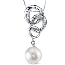 8.5mm Freshwater White Pearl Pendant in Sterling Silver SP10890