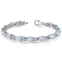 Opal Bracelet Sterling Silver Tear Drop 10.00 Cts SB4338
