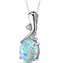 Opal Pendant Necklace Sterling Silver Oval Cabochon 2.50 Cts SP10964