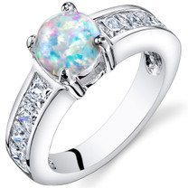Opal Engagement Ring Sterling Silver 1.25 Cts Sizes 5 to 9 SR11160