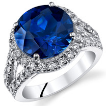 6.75 Cts Blue Sapphire Sterling Silver Ring Sizes 5 to 9 SR11058