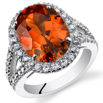 8.50 Cts Padparadscha Sapphire Ring In Sterling Silver SR11126