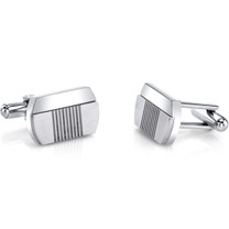 Abstract Modern Layered Stainless Steel Cufflinks SC1084