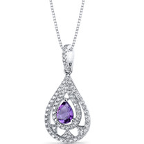 Amethyst Chandelier Pendant Necklace Sterling Silver 0.5 Carats SP11266