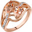 14K Rose Gold Two Stone Morganite Ring Pear Shape 1.50 Carats Sizes 5-9