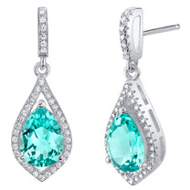 Simulated Paraiba Tourmaline Sterling Silver Tear Drop Eden Earrings