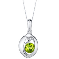 Peridot Sterling Silver Sphere Pendant Necklace