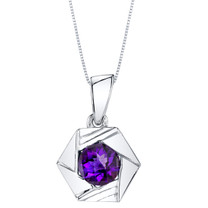 Amethyst Sterling Silver Cirque Pendant Necklace
