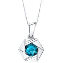 London Blue Topaz Sterling Silver Cirque Pendant Necklace