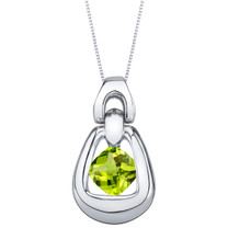 Peridot Sterling Silver Sungate Pendant Necklace