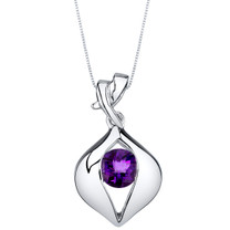 Amethyst Sterling Silver Venus Pendant Necklace
