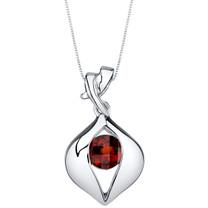 Garnet Sterling Silver Venus Pendant Necklace