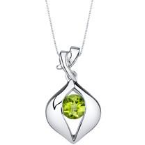 Peridot Sterling Silver Venus Pendant Necklace