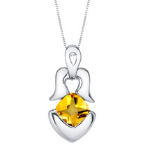 Citrine Sterling Silver Tumi Pendant Necklace