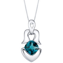 London Blue Topaz Sterling Silver Tumi Pendant Necklace