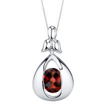 Garnet Sterling Silver Cascade Pendant Necklace