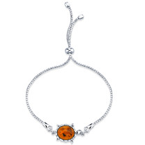 Baltic Amber Turtle Sterling Silver Bolo Adjustable Bracelet