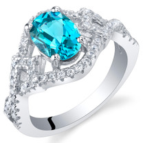 London Blue Topaz Sterling Silver Lace Ring Sizes 5 to 9
