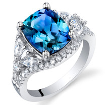 4 Carat Simulated Alexandrite Sterling Silver Legacy Ring Sizes 5 to 9