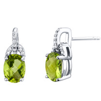 Peridot Sterling Silver Pirouette Drop Earrings 2.50 Carats Total