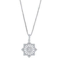 Sterling Silver Simulated Diamonds Astral Pendant Necklace