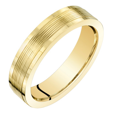 Womens 14K Yellow Gold Classic Fit 4mm Wedding Anniversary Ring Band Sizes 4 to 9