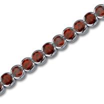 Chic 19.75 carats Round Cut Garnet Gemstone Tennis Bracelet in Sterling Silver Style SB2748