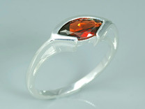 1.25 Carats Marquise Cut Genuine Garnet Sterling Silver Ring Style SR8716