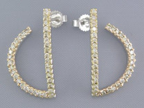SEMI ANCHOR SET 1/2CT DIAMOND EARRINGS Style E15736