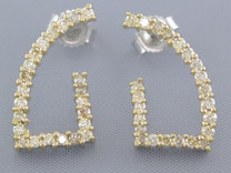NEW 1/2CT DIAMOND G-INVERTED DROP EARRINGS Style E15740