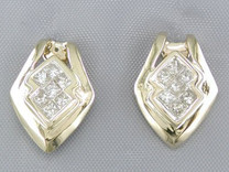 A$2280 CLEAR CUT 0.47CT PRINCESS DIAMOND DROP EARRINGS Style E16078