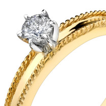 0.25 cts Diamond Solitaire Ring 14Kt Yellow Gold Style R54094