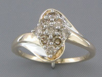 0.60 cts Diamond Cluster Ring 14Kt Yellow Gold Style R54712