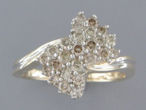 RADIANT 0.76CT ROUND DIAMOND BOW STYLE COCKTAIL RING Style R58592