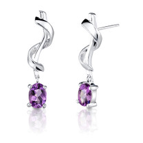 1.50ct Amethyst Oval Shape Earrings Style SE1704