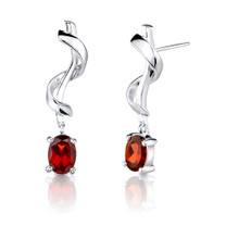 2.00ct Oval Cut Garnet Earrings Style SE1708