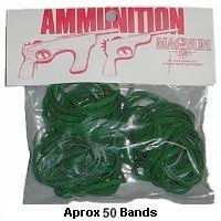 Green Ammo for Rubber Band Guns- 1oz