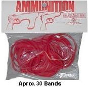 Red Ammo for Rubber Band Guns- 1oz