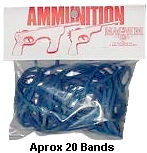 Blue Ammo for Rubber Band Guns- 1oz