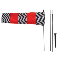 Red and Black Directional Windsock
